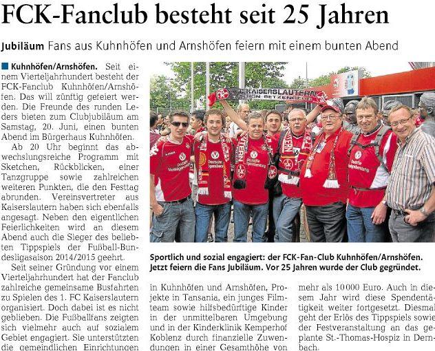 Bericht aus Westerwälder Zeitung